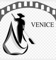 the symbolic mark of a trip to venice vector image