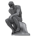 thinker man concept the thinker statue by the