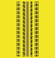 tire track yellow vector image vector image