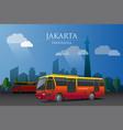 trans jakarta bus vector image vector image