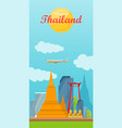 travel to thailand concept in flat design vector image vector image