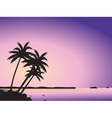 Tropical palm trees and sea vector image