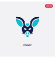 two color fennec icon from desert concept vector image vector image