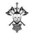 viking totem wolf 0001 vector image vector image