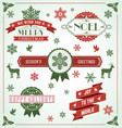 Vintage Holiday Banner Set vector image vector image