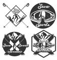 Vintage Ski sport emblems vector image vector image