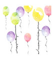 water color balloons for happy birthday background vector image