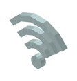 wi-fi 3d icon isolated on vector image vector image