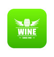 wine barrel icon green vector image vector image