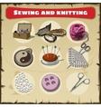 Sewing and knitting set vector image