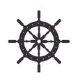 steer ship wheel direction vector image