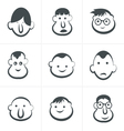 Laughing childrens faces Set vector image