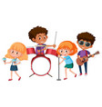 a music band on white backgroud vector image vector image