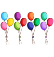 A simple coloured sketch of the balloons vector image