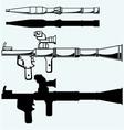 Anti-tank rocket propelled grenade launcher RPG 7 vector image vector image
