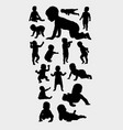 baplaying silhouettes vector image vector image