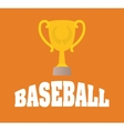baseball trophy cup vector image vector image