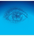 Binary eye vector image vector image