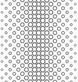Black and white curved octagon pattern background vector image vector image