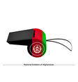 Black Red and Green Stripe on Afghanistan Whistle vector image vector image