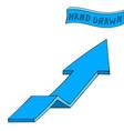blue arrow up sign hand drawn sketch vector image vector image