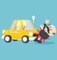 businessman car accident vector image vector image
