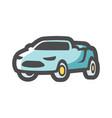 cabriolet summer luxury car icon cartoon vector image