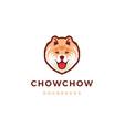 chow dog logo icon vector image