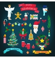 Christmas and New Year Decorative Elements vector image