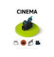 Cinema icon in different style vector image