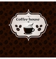 Coffee house vintage banner design template vector image