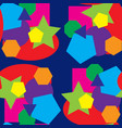 colored seamless pattern and various shapes vector image vector image
