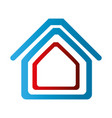 colorful abstract silhouette house icon vector image vector image