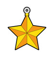 decorative star isolated icon vector image vector image