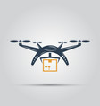 drone delivery isolated colored icon vector image