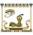 egypt composition vector image vector image
