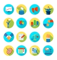 Election Icon Flat Rounded vector image vector image