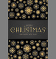 elegant christmas background with gold shining vector image vector image
