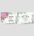 elegant floral design for a wedding invitation vector image vector image