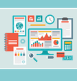 flat design - business icons for presentation vector image vector image