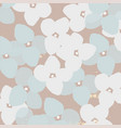 floral abstract pattern stylized hydrangea flower vector image vector image