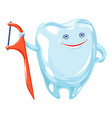 floss stick icon cartoon style vector image vector image