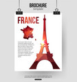 France travel background Brochure with France map vector image vector image