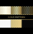 gold colored with stripped square texture vector image vector image