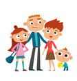 happy family in love vector image vector image