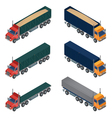Heavy Transportation Isometric Cargo Truck vector image vector image