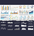 infographic and charts pie diagrams and schemes vector image vector image