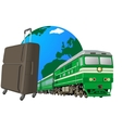 Journey to the railway transport vector image vector image