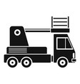 lift truck icon simple style vector image