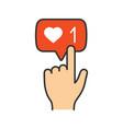 like counter button color icon vector image